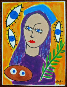 RAW ART - ORIGINAL MADONNA PAINTING by Jon Stucky