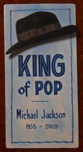 MICHAEL JACKSON - King of Pop Sign  by George Borum