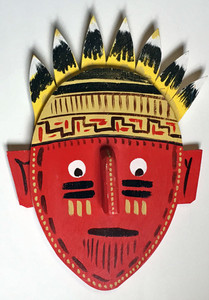 3-D WOODEN INDIAN WALL MASK #2 by George Borum