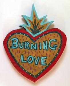 BURNING LOVE CUTOUT by Anthony Tavis