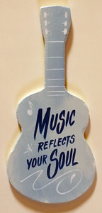 MUSIC REFLECTS YOUR SOUL GUITAR CUT-OUT by George Borum