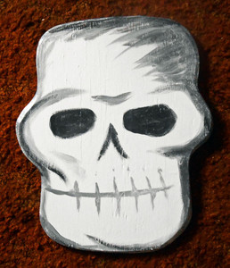 Wood Cutout SKULL #1 by George Borum
