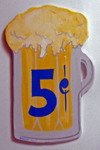 BEER MUG CUT-OUT - 5¢ by George Borum