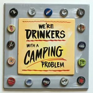 BEER  DRINKERS - CAMPERS PARTY SIGNS by George Borum