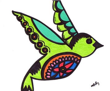 COLIBRI BIRD by Nathania Garcia