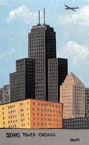 SEARS TOWER PAINTING by Otto Schneider