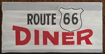 ROUTE 66 DINER SIGN - by George Borum