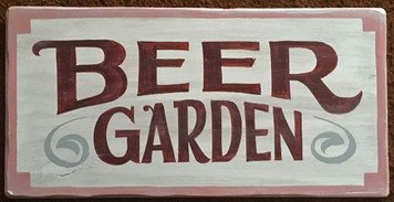 BEER GARDEN SIGN by George Borum