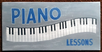 PIANO LESSONS SIGN by George Borum