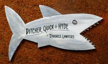 LAWYER SHARK cutout by George Borum