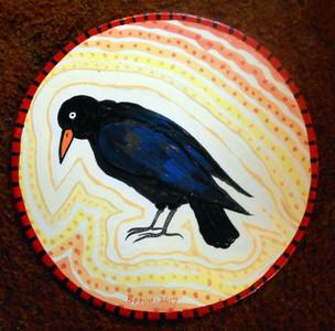 CROW - BLACKBIRD PAINTING by George Borum