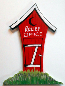 Relief Office OUTHOUSE Wall Hanger by George Borum