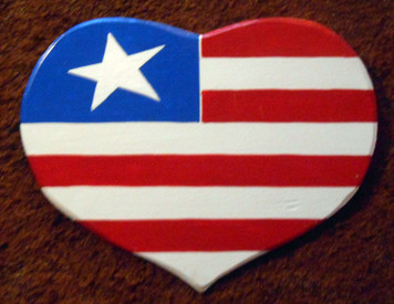 FLAG - HEART Wall Hanger by George Borum
