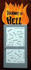 DOORWAY TO HELL Wall Hanger by George Borum
