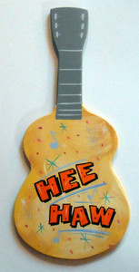 HEE-HAW GUITAR Wall Hanger by George Borum