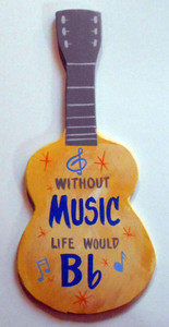 B-Flat GUITAR Wall Hanger by George Borum