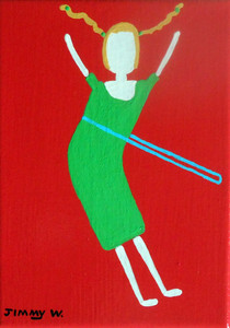 GIRL HULA HOOPING by Jimmy W