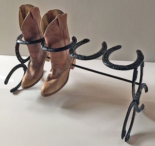 BOOT RACK - Holds 2 Pair - by Amish Blacksmith