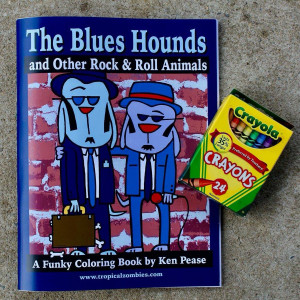 NEW BLUES HOUNDS COLORING BOOK by Ken Pease
