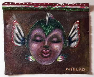 SELFIE MOMENT #1 - Fantasy Fish Painting by Fathead