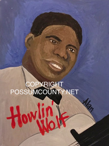 HOWLIN' WOLF PORTRAIT by Alan the Portrait Guy