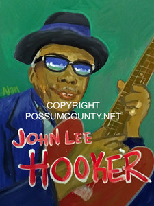 JOHN LEE HOOKER PAINTING by ALAN the Portrait Guy