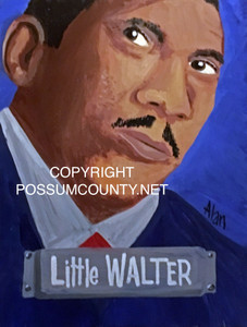 LITTLE WALTER PAINTING by ALAN the Portrait Guy