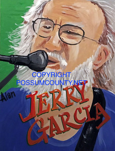 JERRY GARCIA Grateful Dead  PAINTING by ALAN the Portrait Guy