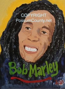 BOB MARLEY PAINTING -- by ALAN the Portrait Guy