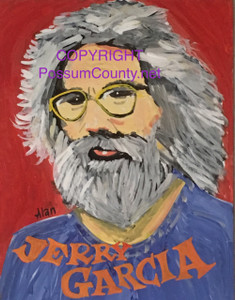 JERRY GARCIA of Grateful Dead by ALAN the Portrait Guy