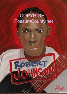 ROBERT JOHNSON PAINTING --- BY ALAN the Portrait Guy