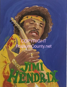 JIMI HENDRIX PAINTING -- by ALAN the Portrait Guy