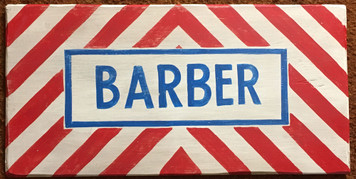 BARBER Ol Time Sign by George Borum