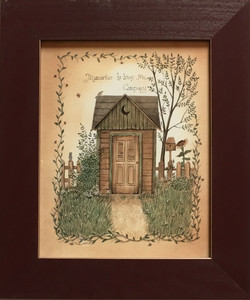 OUTHOUSE PRINT #2 - FRAMED UNDER GLASS