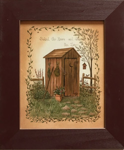 OUTHOUSE PRINT #3 - FRAMED UNDER GLASS