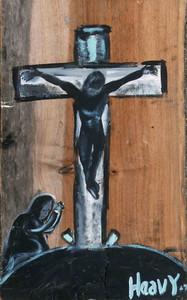 Crucifixion Of Jesus Christ by Chicago Folk Artist  -  Heavy