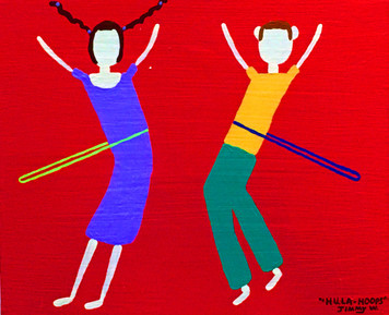 BOY & GIRL HULA HOOPING by  Jimmy W