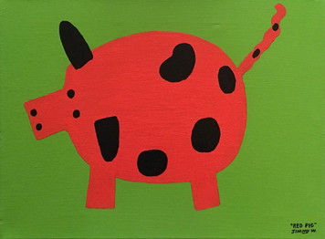 BIG RED SPOTTED PIG by Jimmy W