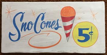 SNO CONES - 5¢ - Carnival Fair