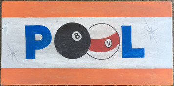 POOL - BILLIARDS - Old Time Sign