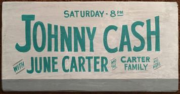 JOHNNY CASH - CONCERT POSTER
