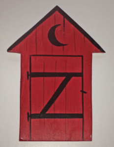 RED OUTHOUSE - NO WORDING