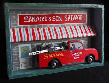 Redd Foxx - Sanford & Son Shadow Box by George Borum