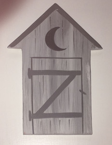GREY OUTHOUSE - NO WORDING