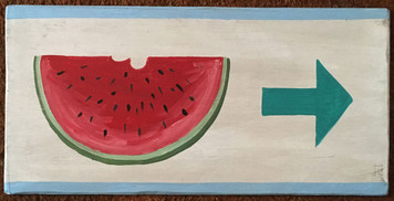 WATERMELON - FRUIT STAND SIGN
