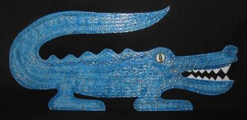 Pull Tab Alligator Wall Hanging by George Borum