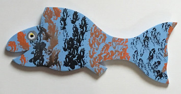 BLUE FISH Cut-out #12 by Steve Knight