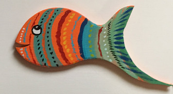 RAINBOW FISH Cut-out #18 by Steve Knight