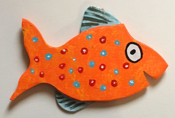 CUT-OUT SPOTTED FISH # 13 - BY STEVE KNIGHT