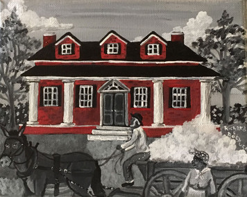 Picking Cotton at Red Brick House on the Hill #67 by Roebuck